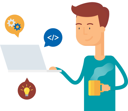 WordPress Maintenance Tech Support Guy Drinking Tea